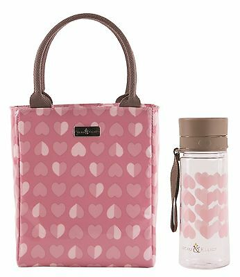 Beau & Elliot Pink Confetti Insulated Lunch Tote and Tritan Hydration Bottle