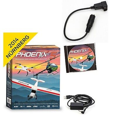 Phoenix R/C Pro Flight Simulator / Sim V5.0 w/ Futaba Square Micro Adapter