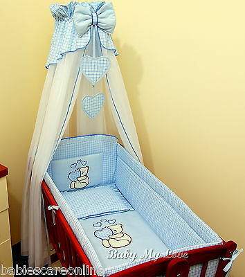 10 pcs CRIB bedding set /Bumper/sheet/duvet/CANOPY /FREE STANDING HOLDER-