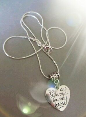 Always in my heart memory necklace