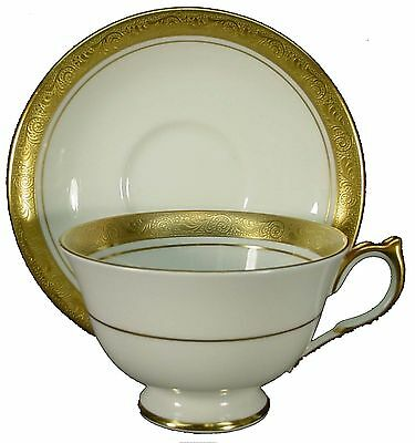 "AYNSLEY china ARGOSY 8360 smooth CUP & SAUCER Set Design In 2-3/8"" Cup"
