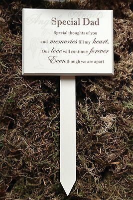 Memorial For Special Dad Wooden Grave Stick Stake Ornament Funeral Tribute