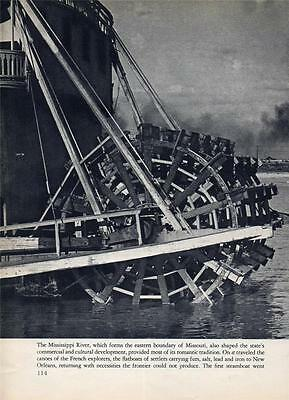 Steamboat Queen of St Paul Mississippi River 2 Page Photo From Book 40s Era Rare