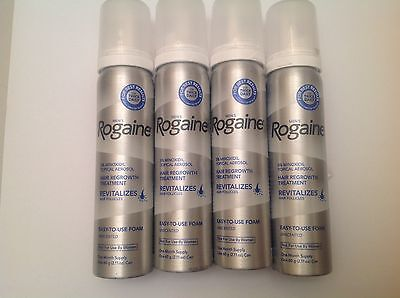 ROGAINE 5% Minoxidil Topical Foam Sealed MENS 8 Month Supply 2.11oz 8 Cans
