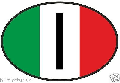I Italy Country Code Oval With Italian Flag Bumper Sticker Laptop Sticker