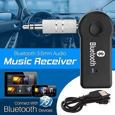 Latest Wireless 3.0 Bluetooth Audio Receiver  Music Adapter Mic Car 3.5mm AUX UK