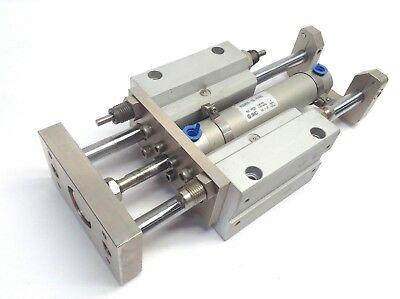 SMC CDM2WF25-100-H7PWL Pneumatic Cylinder Double Rod w/ 2x D-H7PW Auto Switches