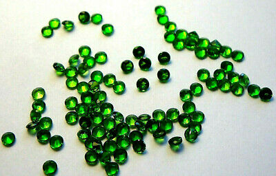 3x Chromdiopsid - Rund facettiert Grün/green IF 1,5mm  (CD004)