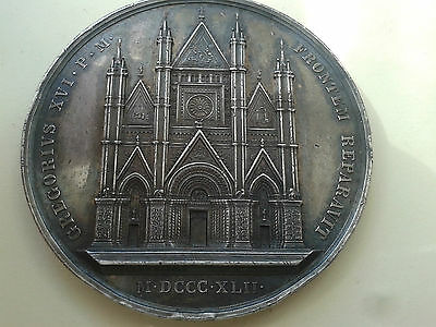 Orvieto The Restoration of the Cathedral Large Silver Medal Umberto I 1842 1890