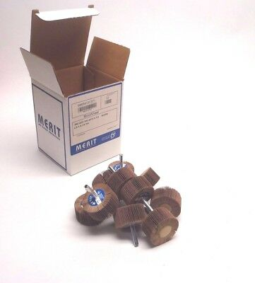 NEW Box of (10) Merit Mini Wheel 08834137371, Mm-2010 X 1/4 80Arb Abrasive Flap