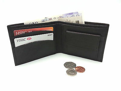 Mens Real Leather wallet Wholesale Job lot Black Soft Genuine Shop Retail Bifold