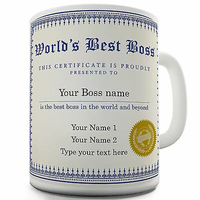 Best Boss Personalised Novelty Mug