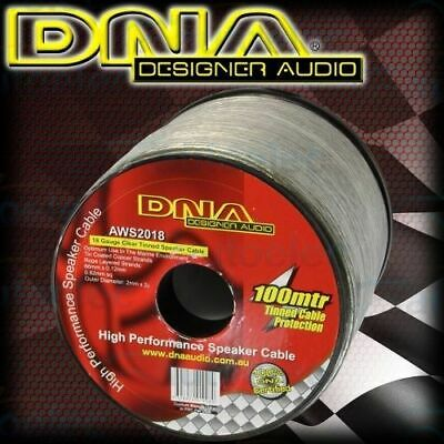 Dna Speaker Wire Cable 18 Guage 100 Metre Car Home Audio System Install Aws2018