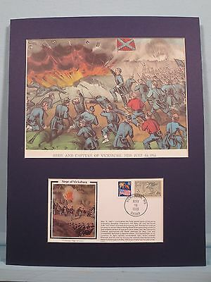 General Ulysses Grant's troops at the Siege of Vicksburg & Commemorative Cover