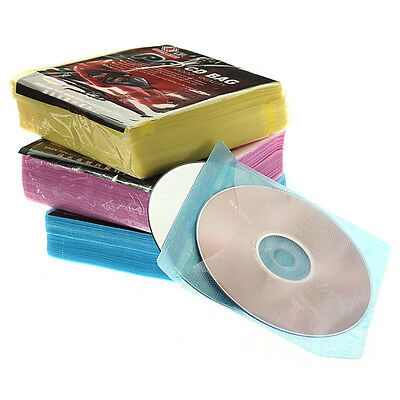 100x CD DVD DISC Clear Cover Storage Case Plastic Sleeve Wallet Holder Packs New