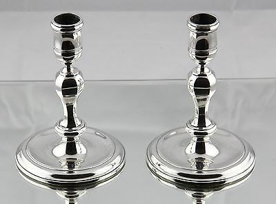 RARE Tiffany & Co. Sterling Silver Heavy Non-Weighted Candlesticks Simon Pantin