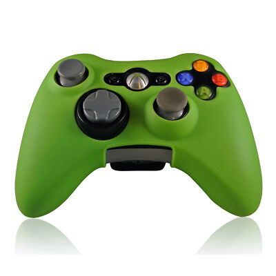 XBOX 360 Gamepad Controller Skin Silicone Rubber Grip Case Cover Green