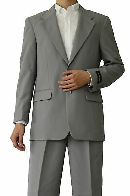 Men's 2 Button Suit Gray Color Single Breasted comes with Pleated Pants #702P