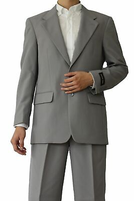 Men's Basic Suit Gray Color 3 button Single Breasted Suit come with Pants #802P