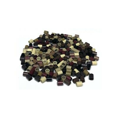 Copper Micro Tubes Rings Beads Links for Stick/I-tip Hair Extensions
