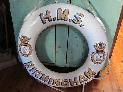 Lifebuoy From The Hms Birmingham, Light Cruiser C1936-1959