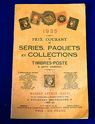 Catalogue Prix Courant de Séries, Paquets et Collections de Timbres. 1935
