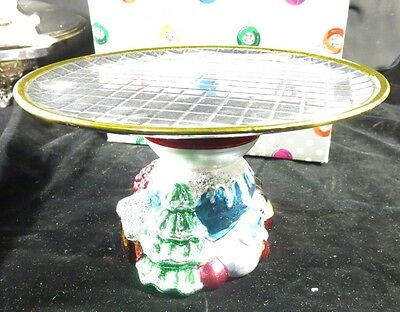 """Dept 56 Christmas """"Holiday Dazzle"""" Cake Stand Made in Taiwan"""