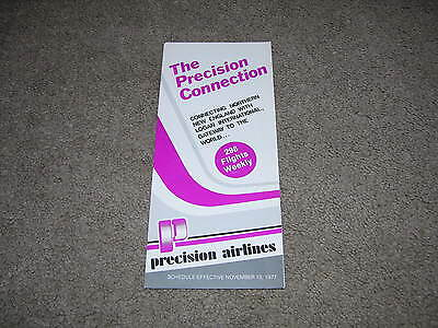 1977 Precision Airlines/Airways System Timetable/Schedule