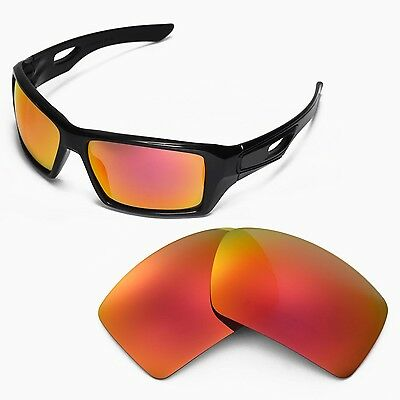 81a91c55013 New Walleva Fire Red Replacement Lenses For Oakley Eyepatch 2 Sunglasses