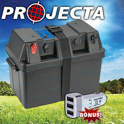 Projecta Bpe330 Battery Box Agm Deep Cycle 130Ah Dual System 12V 100Ah +Usb Adpt