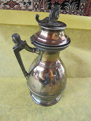 MERIDEN B CO. SILVERPLATE SYRUP/JUG /CREAMER PITCHER,PAT'D OCT 24,1865, #181.VGC