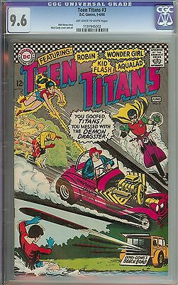 Teen Titans #3 Cgc 9.6 Ow/wh Pages // Nick Cardy Cover/art