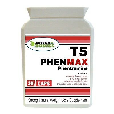 T5 PHENMAX PHENTRAMINE 60mg STRONG DIET SLIMMING WEIGHT LOSS PILL FAT BURNERS 30
