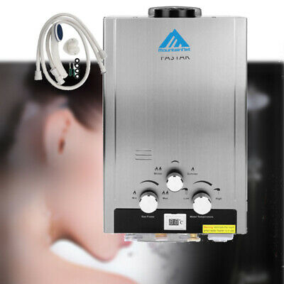 8L 2GPM Natural Gas Stainless Steel Hot Water Heater Tankless Instant Boiler