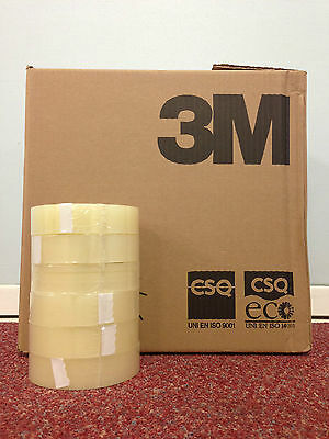 "3M SCOTCH CLEAR TAPE 1"" x 66M (25MM x 66M) 1, 6, 12, 18, 24, 36, 72, 144 ROLLS"