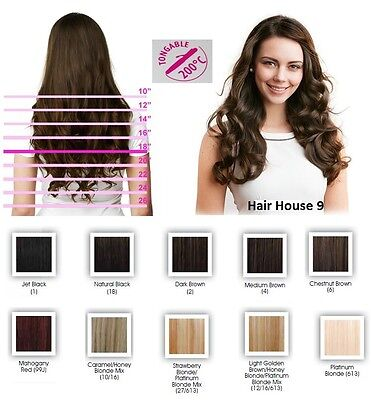 Full Head Clip in Hair Extensions Feel Like 100% Human Hair Affordable Price