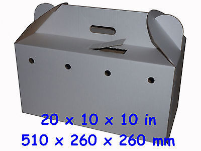 Large Size 2 Cardboard Poultry / Pet Carriers, including disposable floor