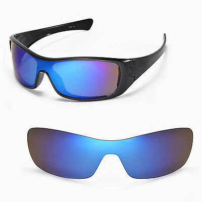 New Walleva Ice Blue Replacement Lenses for Oakley Antix Sunglasses