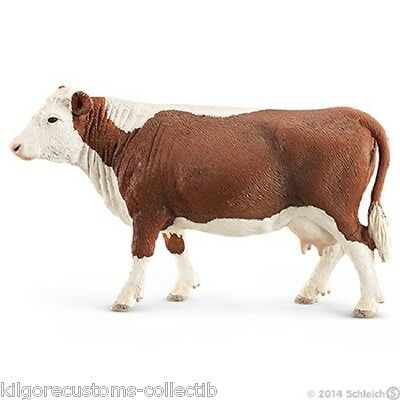 Schleich Hereford Cow Farm Life Figurine Toy NEW 2014