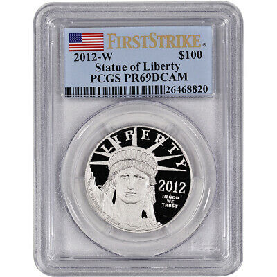 2012-W American Platinum Eagle Proof (1 oz) $100 - PCGS PR69 DCAM First Strike