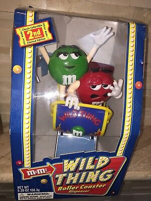 M&ms Wild Thing Rollercoaster Candy Dispenser Limited Edition