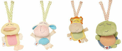 Spook Brand 18cm Travel Rattle & Chime Toy :  Duck Lamb Lion or Turtle. Birth +