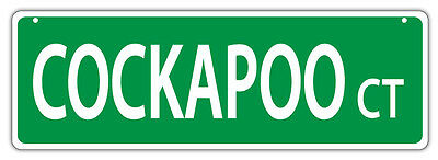 Plastic Street Signs: COCKAPOO COURT (COCKER SPANIEL POODLE) | Dogs