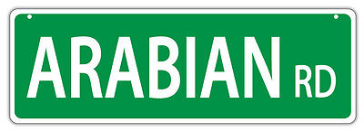 Plastic Street Signs: ARABIAN ROAD | Horses, Gifts, Decorations