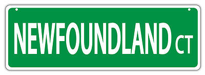 Plastic Street Signs: NEWFOUNDLAND COURT (NEW FOUNDLAND) | Dogs, Gifts