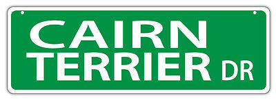 Plastic Street Signs: CAIRN TERRIER DRIVE | Dogs, Gifts, Decorations