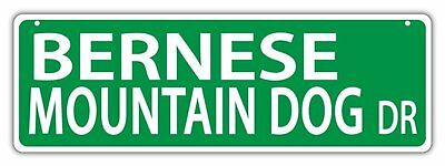 Plastic Street Signs: BERNESE BLVD (MOUNTAIN DOG) | Dogs, Gifts