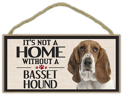 Wood Sign: It's Not A Home Without A BASSET HOUND | Dogs, Gifts, Decorations