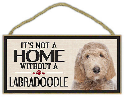 Wood Sign: It's Not A Home Without A LABRADOODLE (LABRADOR POODLE) | Dogs, Gifts