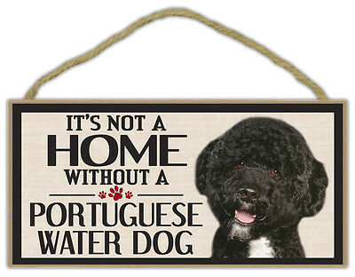 Wood Sign: It's Not A Home Without A PORTUGUESE WATER DOG | Dogs, Gifts